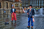 Winter Prints - City Jugglers Print by Ron Shoshani
