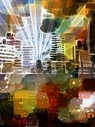 City Light Prints - City Lights Print by Ann Croon