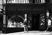 "Lights ""san Francisco"" Prints - City Lights Bookstore - San Francisco Print by Aidan Moran"