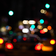 Bokeh Photo Posters - City Lights  Poster by John Farnan