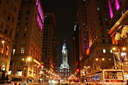 Avenue Of The Arts Posters - City Lights of Philadelphia Poster by Christopher Woods