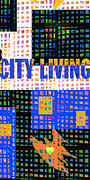 Quilts Digital Art - City Living by Yolanda Fundora
