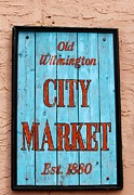 Buy Goods Posters - City Market Sign Poster by Cynthia Guinn