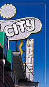 Las Vegas Sign Prints - City Motel Las Vegas Print by Edward Fielding