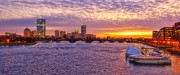 Boston Harbor Photos - City Nights by Joann Vitali