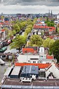 Rooftop Photos - City of Amsterdam from Above by Artur Bogacki