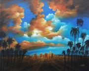 Acrylics Painting Originals - City of Angels by Susi Galloway