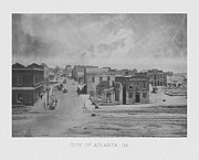 Featured Framed Prints - City Of Atlanta 1863 Framed Print by War Is Hell Store