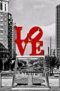 Philly Digital Art Metal Prints - City Of Brotherly LOVE Metal Print by DJ Florek
