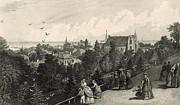 Nineteenth Century Digital Art - City of Cleveland from Reservoir Walk by Antique Engravings