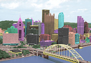 Pittsburgh Pyrography Metal Prints - City of Color Metal Print by Dawn Call