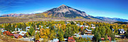 Small Towns Metal Prints - City of Crested Butte Colorado Panorama   Metal Print by James Bo Insogna