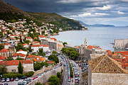 Red Roof Prints - City of Dubrovnik Cityscape Print by Artur Bogacki