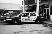 Patrol Car Framed Prints - City Of Florida City Police Patrol Squad Car Usa Framed Print by Joe Fox