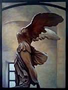 Marble Statue Sculpture Framed Prints - City of Light Framed Print by Teri Tompkins
