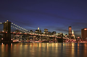 Brooklyn Bridge Photo Prints - City of Lights Print by Evelina Kremsdorf