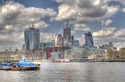 Mile 122 Prints - City of London as viewed from City Hall Print by Ash Sharesomephotos