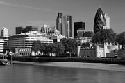 London Skyline Art - City of London by David French