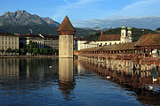 Lucerne Art - City of Lucerne in Switzerland by Ron Sumners