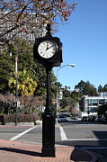 Time Piece Acrylic Prints - City of Martinez California Town Clock - 5D20861 Acrylic Print by Wingsdomain Art and Photography