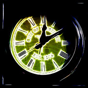 Bayarea Digital Art Metal Prints - City of Martinez California Town Clock - 5D20862 - Electric Metal Print by Wingsdomain Art and Photography