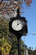 Small Towns Prints - City of Martinez California Town Clock - 5D20862 Print by Wingsdomain Art and Photography