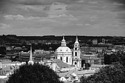 St. Nicholas Acrylic Prints - City of Prague in black and white Acrylic Print by Matthias Hauser