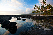 Big Island Photos - City of Refuge Beach by Mike Reid