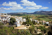 Medieval Village Prints - City of Ronda in Spain Print by Artur Bogacki