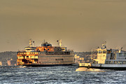 Staten Island Ferry Framed Prints - City of ships Framed Print by David Bearden