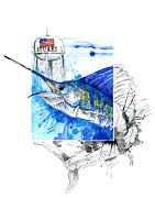 Sailfish Mixed Media - City of Stuart Waters Worth It Campaign by Amber M  Moran