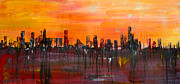 Reno Nevada Painting Prints - City of the Sun Print by Chad Rice