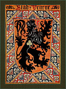 Coat Of Arms Digital Art - City of Veurne Belgium Medieval Coat of Arms  by Serge Averbukh