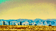 Denver Framed Prints - City on the Plains Framed Print by Catherine Fenner