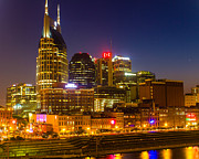 Buildings In Nashville Prints - City on the Water Print by Robert Hebert