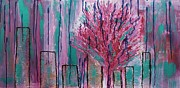 Pear Tree Mixed Media - City Pear Tree by Nan Bilden