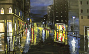 Raining Paintings - City Rain 1 by Mark Moore