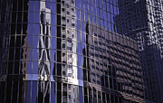 Wayne Oberparleiter Metal Prints - City Reflected Metal Print by Wayne Oberparleiter