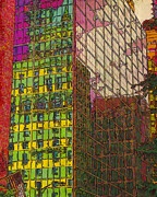 Printmaking Mixed Media - City Reflections I by Judith Rothenstein-Putzer