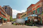 Brick Buildings Prints - City - Roanoke VA - The City Market Print by Mike Savad