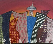 City Scape Paintings - City Scape by Lkb art and Photography