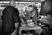 Talking Photo Metal Prints - City - South Street Seaport - New Amsterdam Market - Apples and Mustard Metal Print by Mike Savad