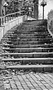 Downtown Stairs Metal Prints - City Steps 1 Metal Print by Angelina Vick