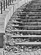 Downtown Stairs Metal Prints - City Steps 2 Metal Print by Angelina Vick