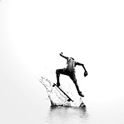Broadway Digital Art Metal Prints - City Surfer Metal Print by Natasha Marco