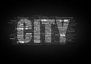 Locations Drawings Prints - CITY type printing press Print by Baranov Viacheslav