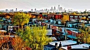 South Philadelphia Prints - City View Five Print by Alice Gipson