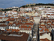 Viewpoint Framed Prints - City view of Lisbon Framed Print by Kiril Stanchev