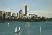 Charles River Painting Posters - City View Sail Poster by OMalley Keyes