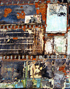 Urban Pyrography - City Wall Abstract by Roxanne Bohana